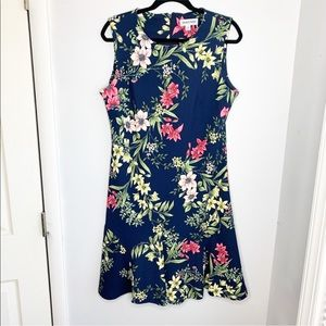 Shelby and Palmer - Floral Peplum Dress - Size 14